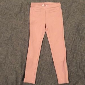 Gap Kids pink with sparkle leggings.